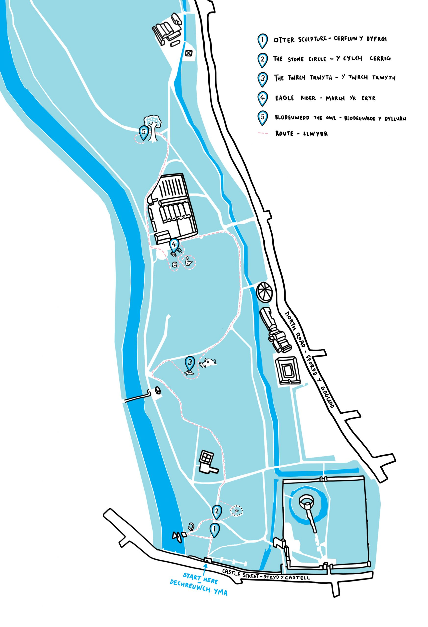 Bute park trail map with key